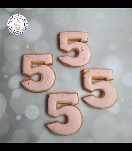 Cookies - Birthday Numbers - Pink & Gold