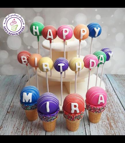 Birthday Themed Cake Pops & Cone Cake Pops