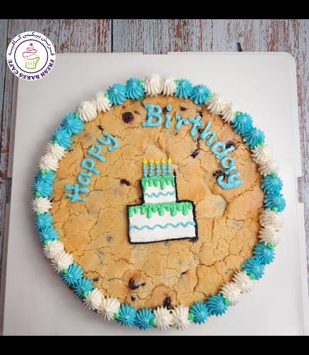 Birthday Themed Chocolate Chip Cookie Cake - Birthday Cake 02