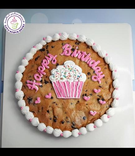 Birthday Themed Chocolate Chip Cookie Cake - Cupcake 01