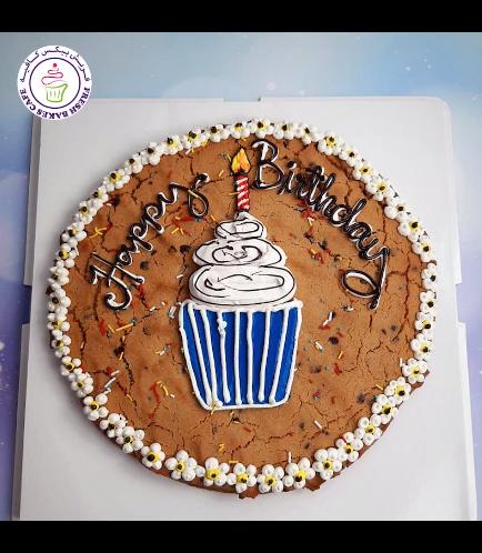 Birthday Themed Chocolate Chip Cookie Cake - Cupcake 02