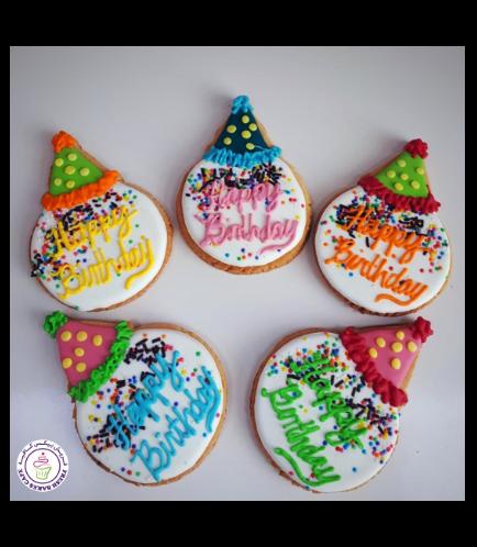 Cookies - Party Hats - Birthday Cookies