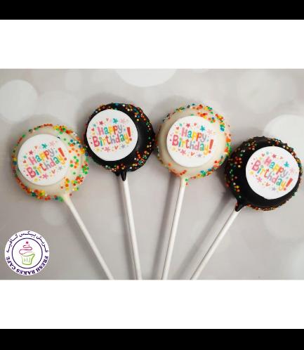 Birthday Themed Donut Pops