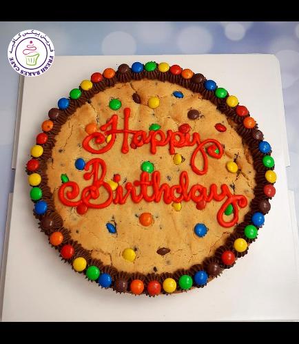 Birthday Themed M&Ms Cookie Cake