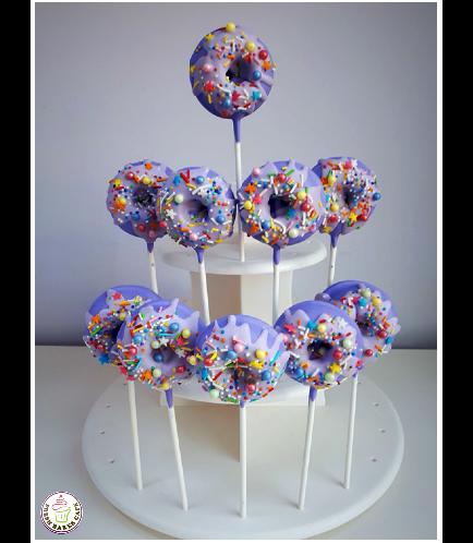 Colorful Donut Pops - Purple