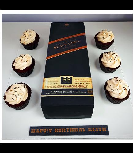 Whiskey Themed Cake - 3D Box Cake