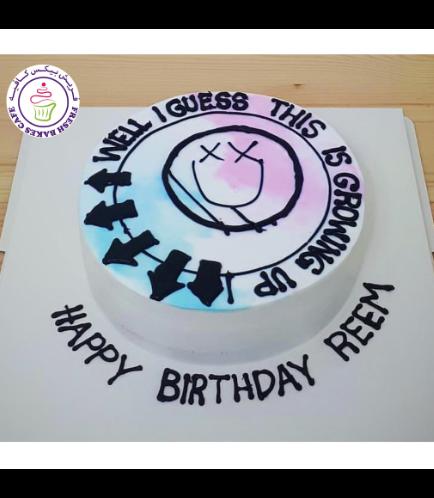 Blink 182 Themed Cake
