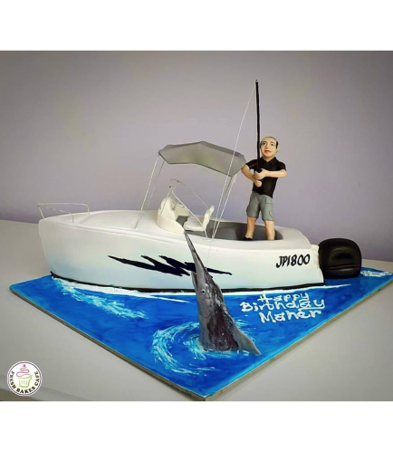 Boat Themed Cake