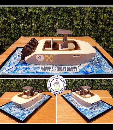 Boat Themed Cake - Motor Boat - 3D Cake 02