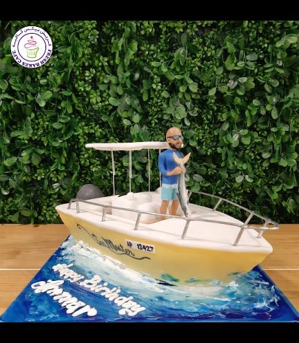Boat Themed Cake - Motor Boat - 3D Cake 03