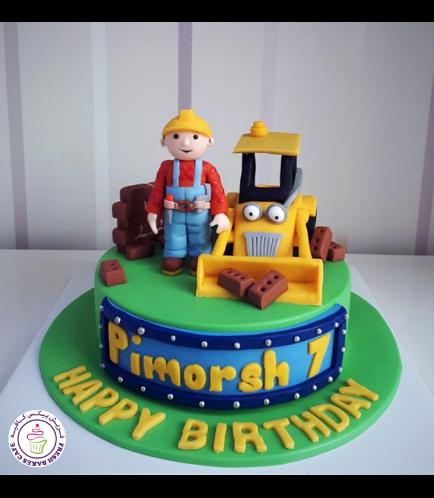 Bob the Builder Themed Cake