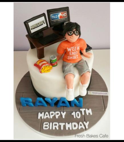 Boy Themed Cake 02