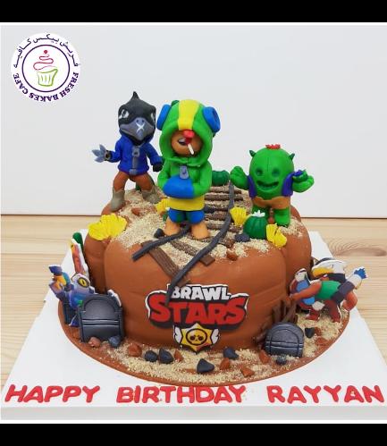 Brawl Stars Themed Cake