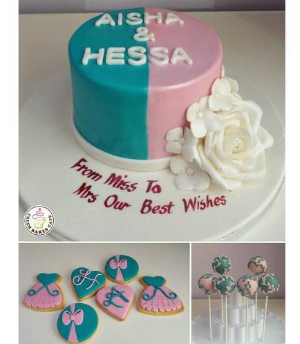 Bridal Shower Themed Cake, Cookies, & Cake Pops