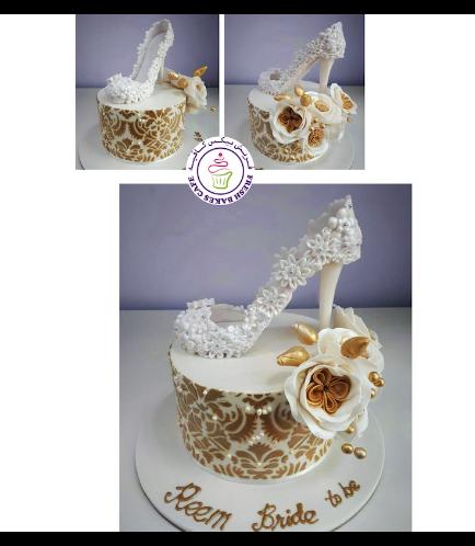 Bridal Shower Themed Cake - Bridal Shoe - 3D Cake Topper