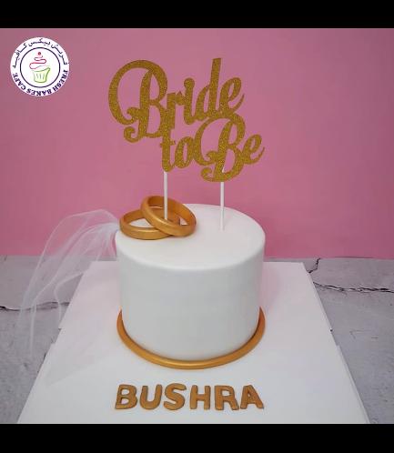 Bridal Shower Themed Cake - Engagement Rings