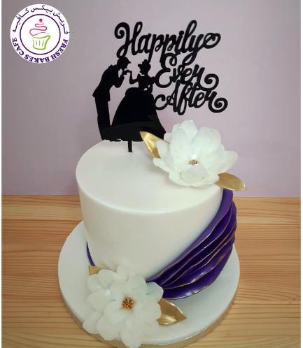 Bridal Shower Themed Cake - Flowers & Ruffles
