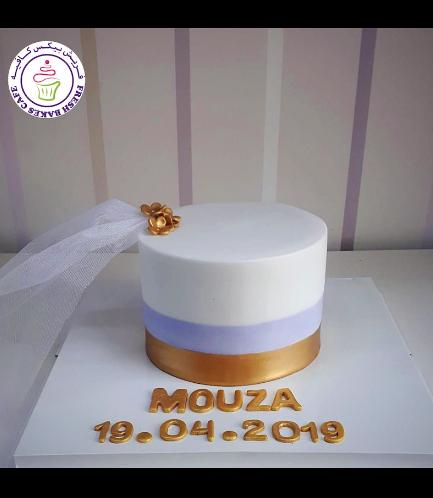 Bridal Shower Themed Cake - Flowers & Veil 03