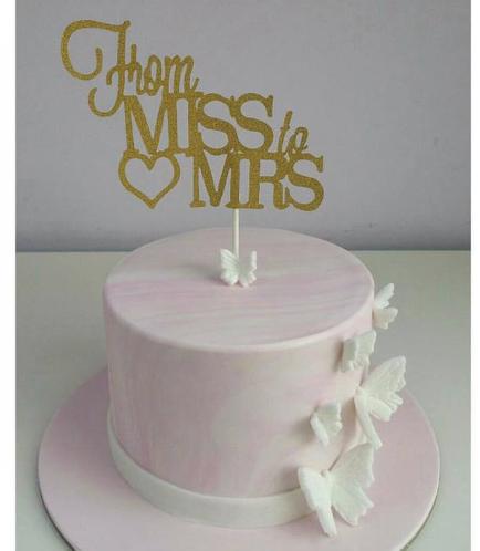 Bridal Shower Themed Cake - Butterflies