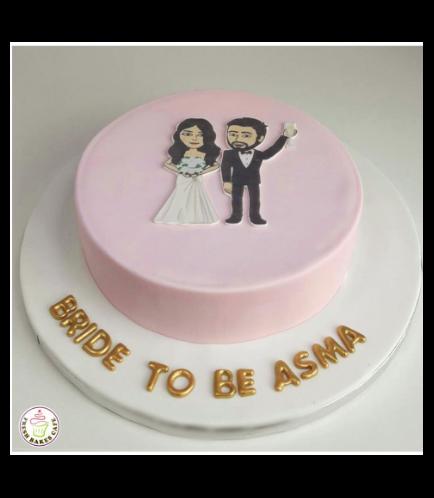 Bridal Shower Themed Cake - Bitmoji - Printed Picture