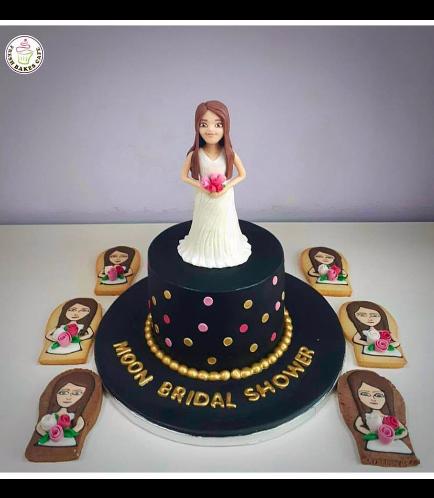 Bridal Shower Themed Cake - Bitmoji - 3D Bride Cake Topper