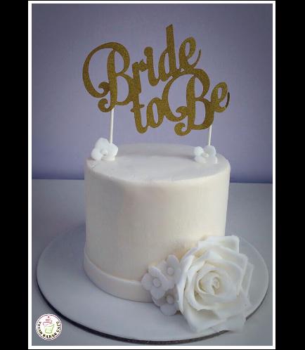 Bridal Shower Themed Cake - Flowers 03
