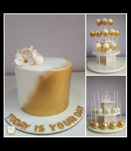 Bridal Shower Themed Cake & Cake Pops