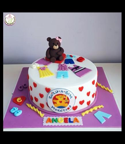 Bear Themed Cake - Build-A-Bear - 3D Cake Topper 02