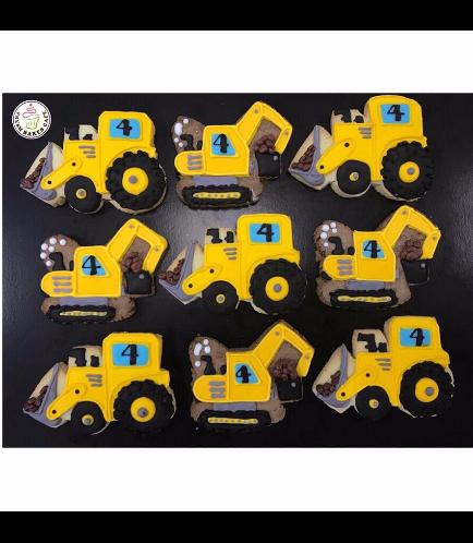 Bulldozer & Digger Cookies