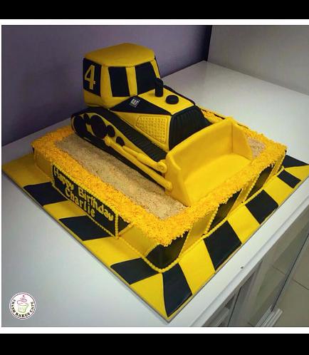 Bulldozer Themed Cake 01a