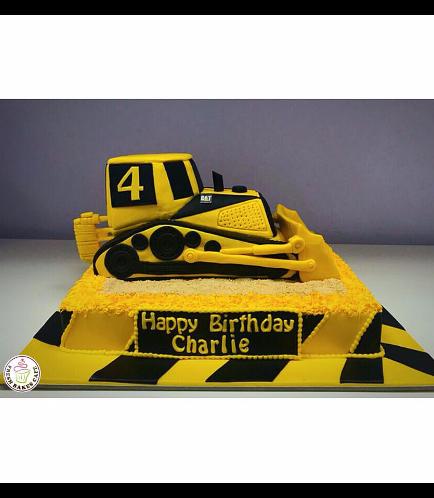 Bulldozer Themed Cake 01b