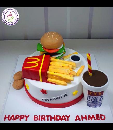 Burger Themed Cake - McDonald 02