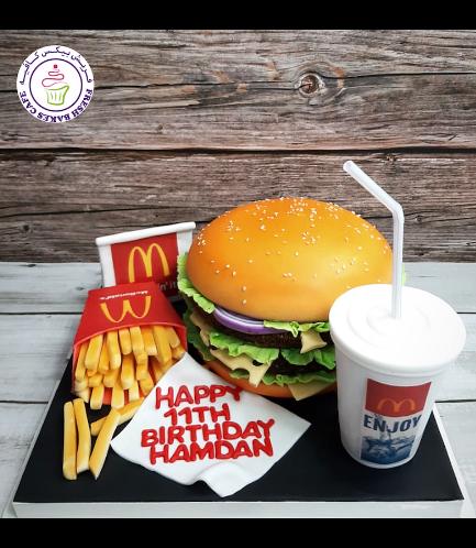 Burger Themed Cake - McDonald - 3D Burger 01