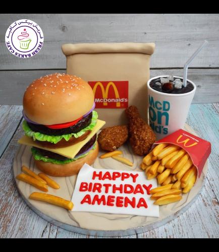 Burger Themed Cake - McDonald - 3D Burger 02