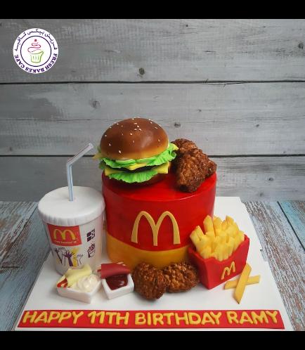 Burger Themed Cake - McDonald 03