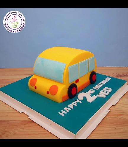 Cake - School Bus - 3D Cake 01