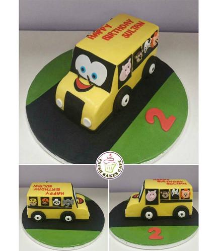 Cake - School Bus - 3D Cake 02