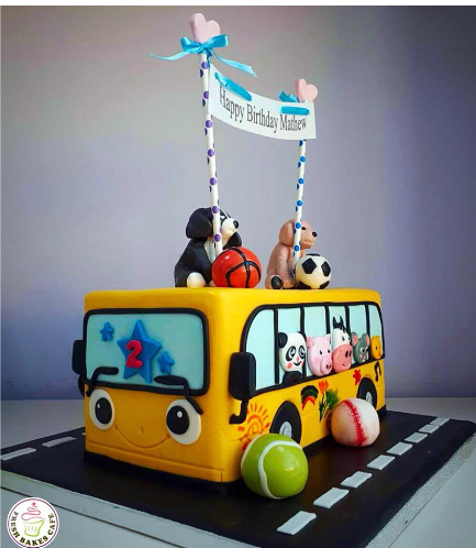 Cake - School Bus - 3D Cake 03a