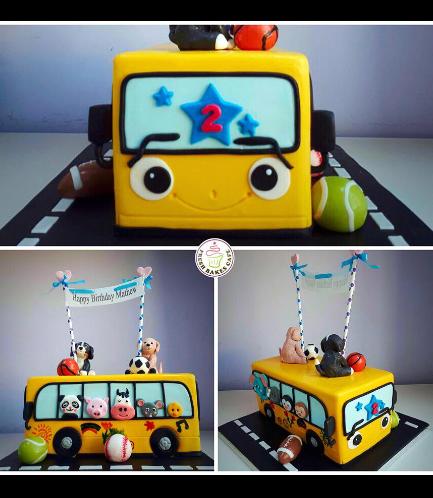 Cake - School Bus - 3D Cake 03b