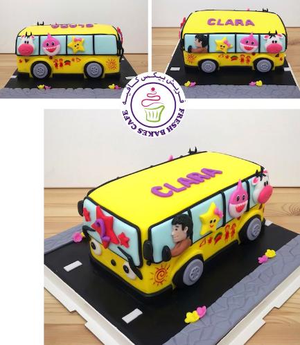 Bus Themed Cake - School Bus - 3D Cake 04