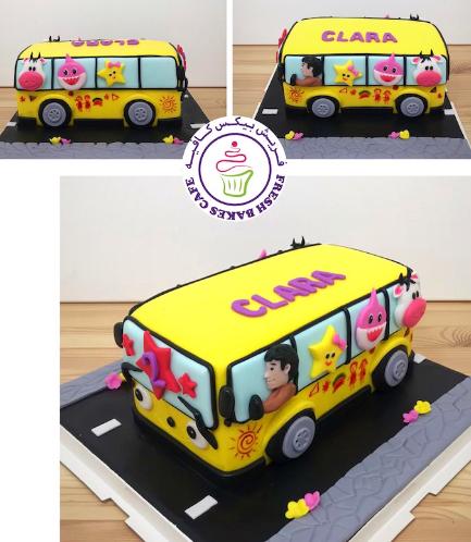 Cake - School Bus - 3D Cake 04