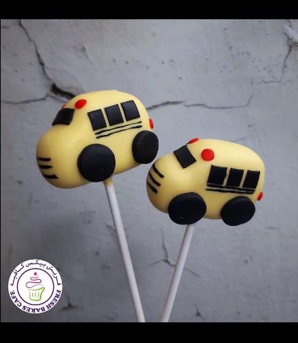 Bus Themed Cake Pops - School Bus