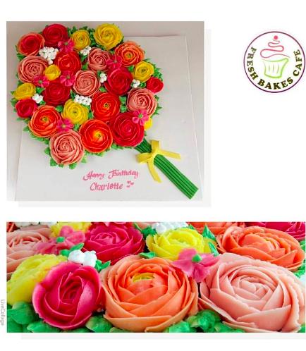 Buttercream Flower Cupcake Bouquet 01