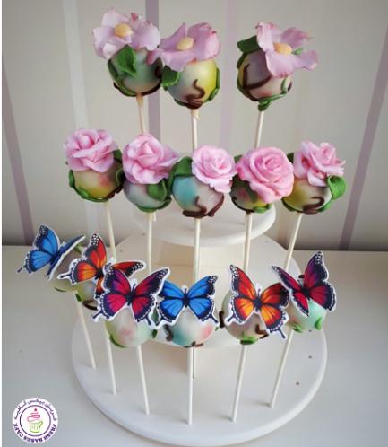 Butterflies & Flowers Themed Cake Pops 01