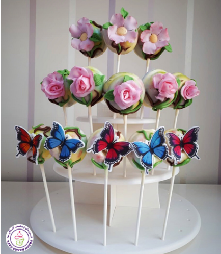 Butterflies & Flowers Themed Donut Pops