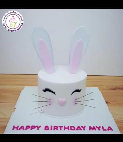 Rabbit Themed Cake - 2D Cake - Fondant 11