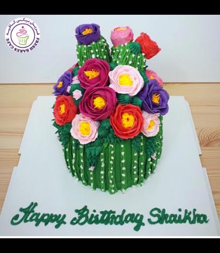 Cactus Themed Cake - Buttercream