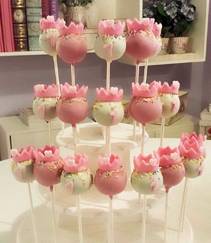 Cake Pops 03 - Pink & White