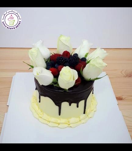 Cake - Roses & Berries