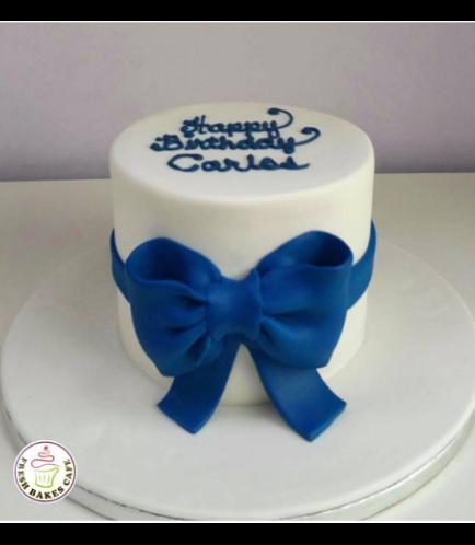 Cake - 1 Tier 03 - Blue